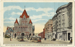 Copley Square, Showing Trinity Church, Westminster and Copley-Plaza Hotels, Boston, Mass. [front]