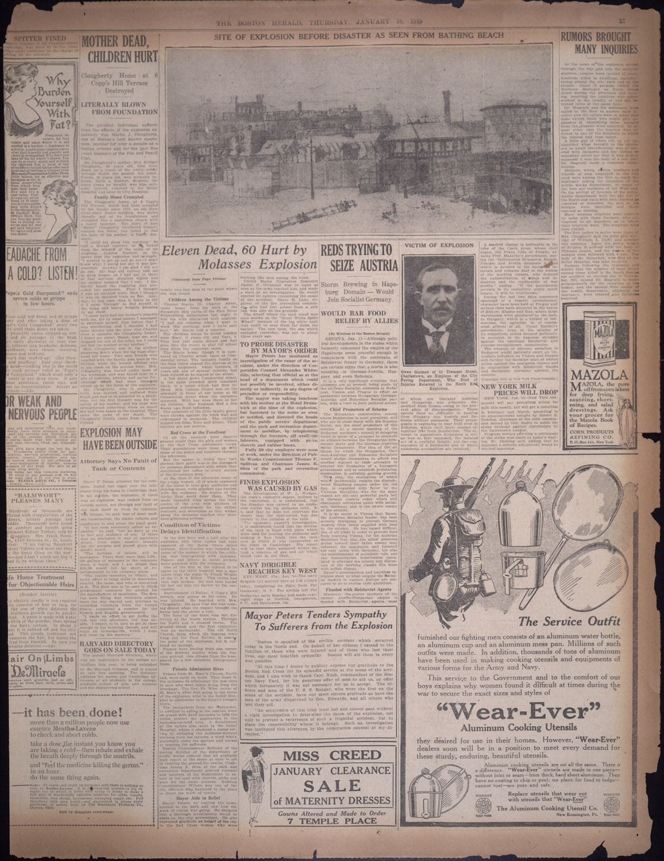 front page The Boston Globe Jan. 16