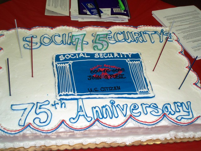 75th Birthday Cake for Social Security