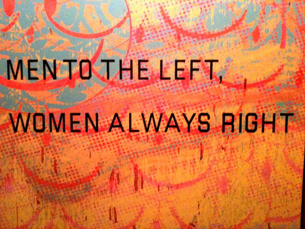 Men To The Left. Women Always Right