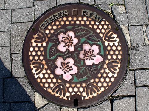Yamatotakada Nara,manhole cover(奈良県大和高田市のマンホール)
