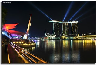 Marina Bay Sands Casino and Hotel @ nite