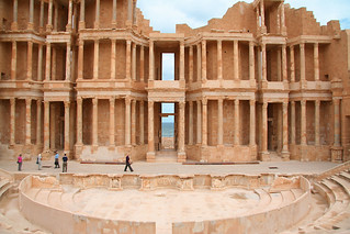the roman theatre in Sabratha