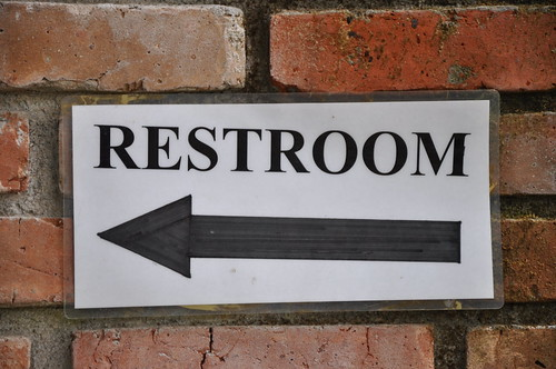 Amazing Restroom Sign