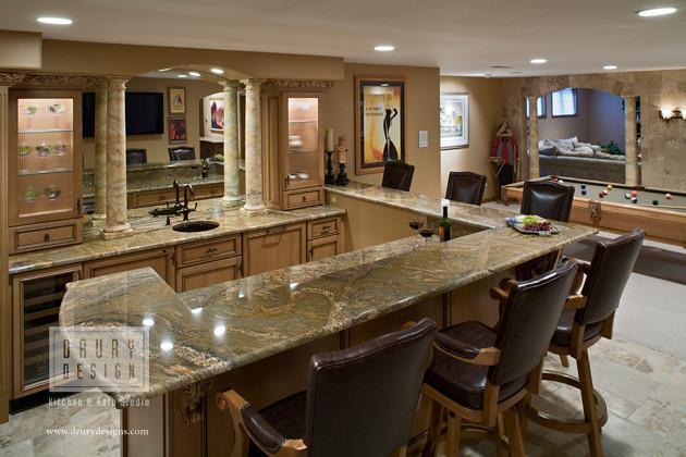 Rec room bar drury design kitchen bath studio 512 n - Drury design kitchen bath studio ...