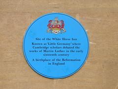 Photo of White Horse Inn, Cambridge blue plaque