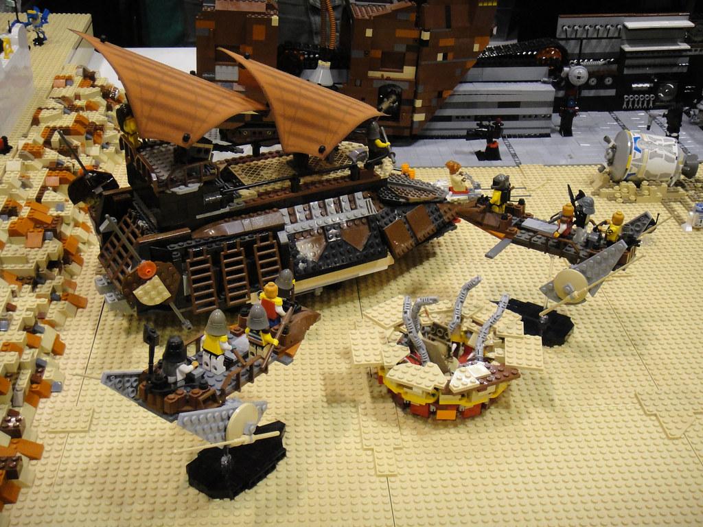 Star Wars Celebration V - Lego diorama - Jabba's Sail ...