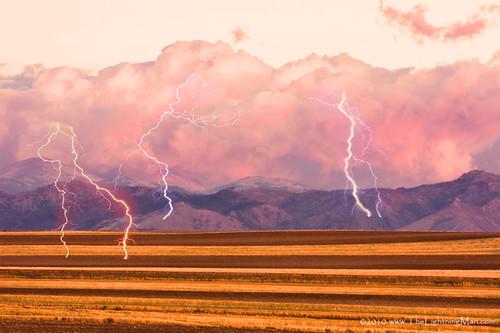 Boulder County Farm Fields Lightning Fantasy
