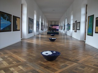 Hallway of Art in the Loire Valley Chateaux