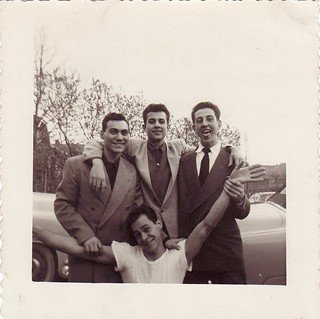 Four young men, circa 1950s