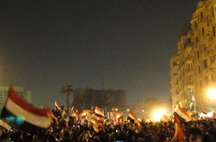 People of Egypt Celebrating the Victory in Tahrir Square