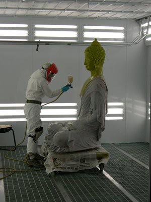 "Toxic ""New Kadampa"" Manjusri Studios plastic sculpture 1"