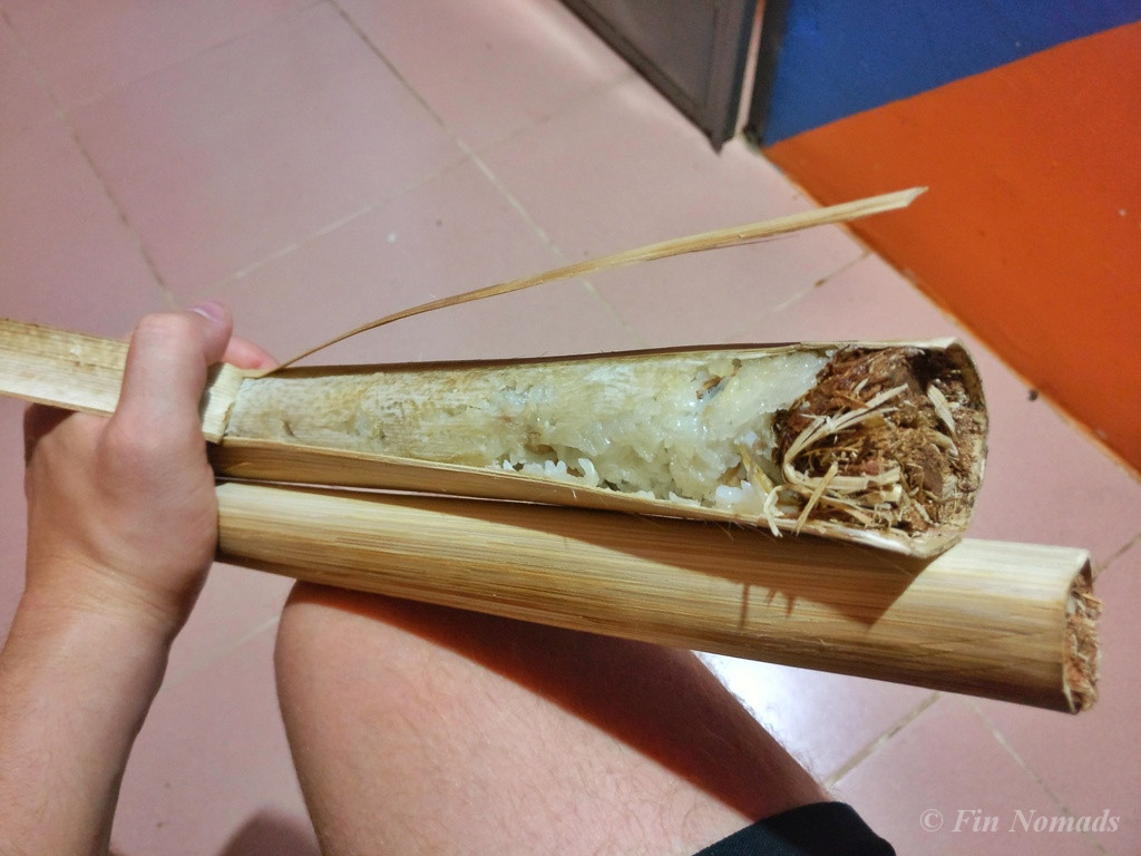 Sticky rice bamboo