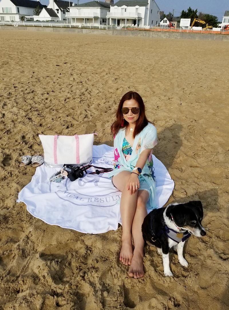 beach-dog-tropical-print-swimsuit-denim-cutoffs-towel-9