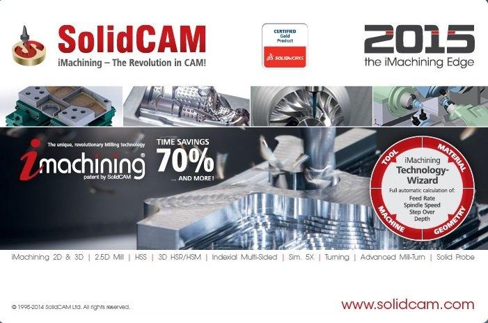 SolidCAM 2015 SP4 HF5 Multilang for SolidWorks 2012-2017 32-64bit