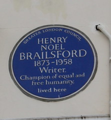 Photo of Henry Noel Brailsford blue plaque