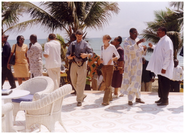 John Paul Lederach in Ghana