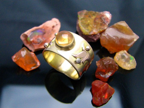 gold fire opal ring 3