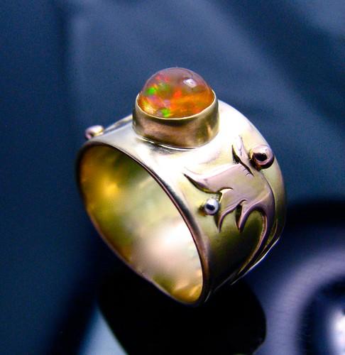 fire opal ring 7
