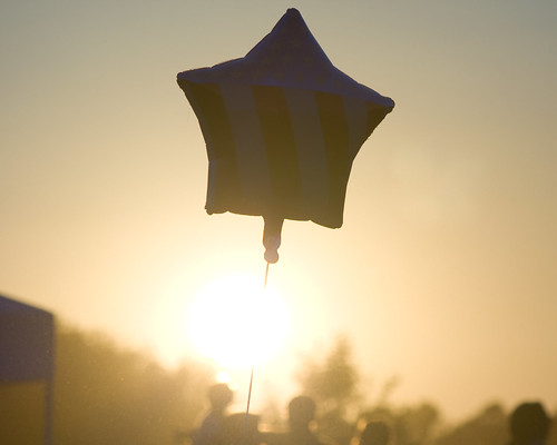 sunset star flag balloon sunflare