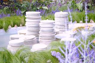 Vintage Plate Water feature