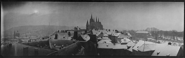 Prague panorama, by Josef Sudek ca. 1959