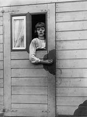 Girl in Fairground Caravan, Cologne, by August Sander 1926