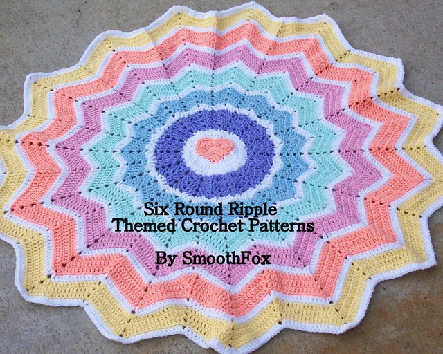 Holly Ripple Afghan and Pillow Pattern Crochet Pattern Holly