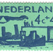 Netherlands postage stamp: sea green