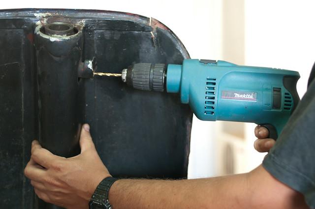 Vespa Restoration - Drilling