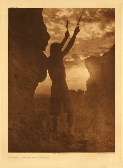 Offering to the sun - San Ildefonso, by Edward S. Curtis 1926