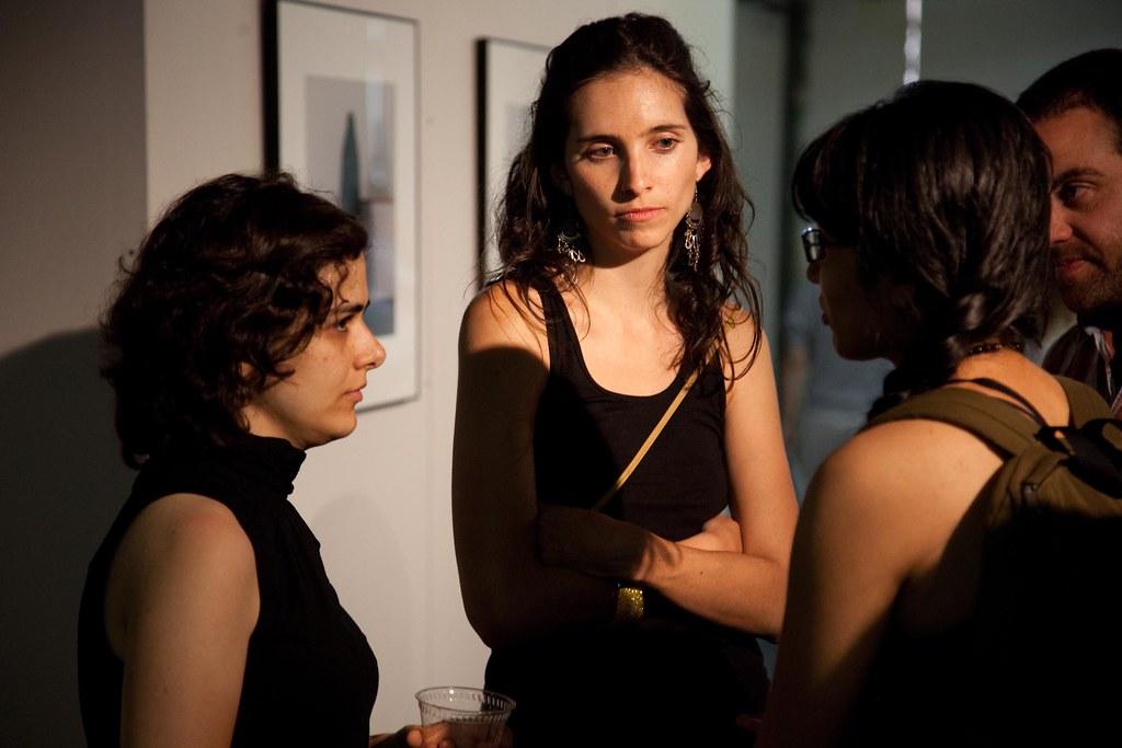 Farideh Sadat Sakhaeifar (M.F.A. '11) and Gabriela Ines Jimenez Rodriguez (M.F.A. '11).