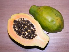 papaya, fruit, food,