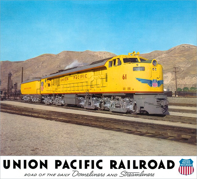 This powerful gas turbine-electric locomotive exemplifies progress, a Union Pacific watchword