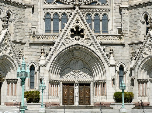 Cathedral Basilica of the Sacred Heart - Front