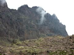 Arrivée à Ciottulu di I Mori : le trou fumant du Tafonatu