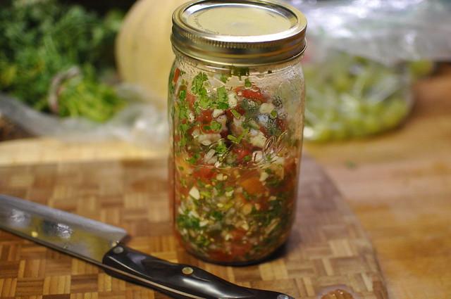 homemade salsa fresca