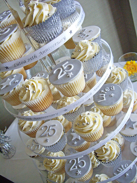 Cupcake Decorating Ideas For Anniversary : Anniversary Cupcake Tower Flickr - Photo Sharing!