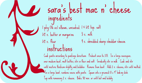 recipe - mac n cheese by sassyladybug