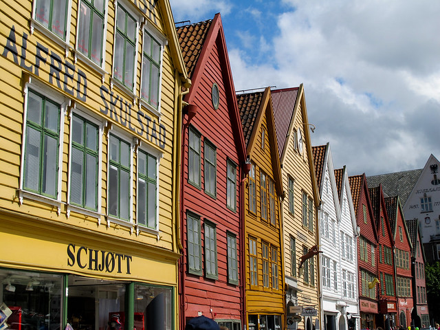 The Old Warehouse District Bergen Norway Flickr