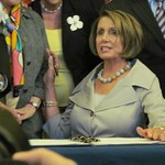 Nancy Pelosi Signs Unemployment Extension BIll