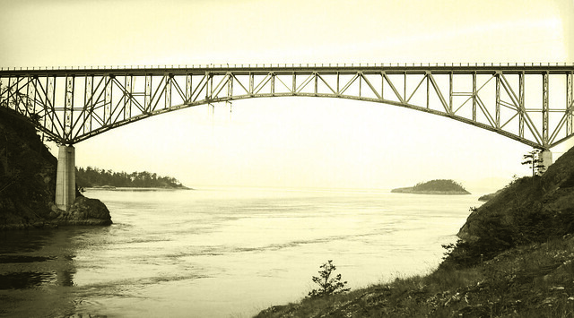 Deception Pass Bridge nears completion
