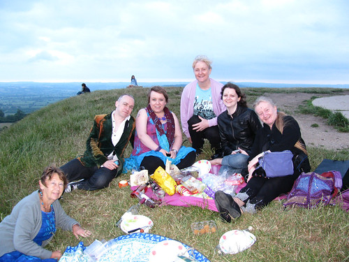 Birthday picnic on Glastonbury Tor