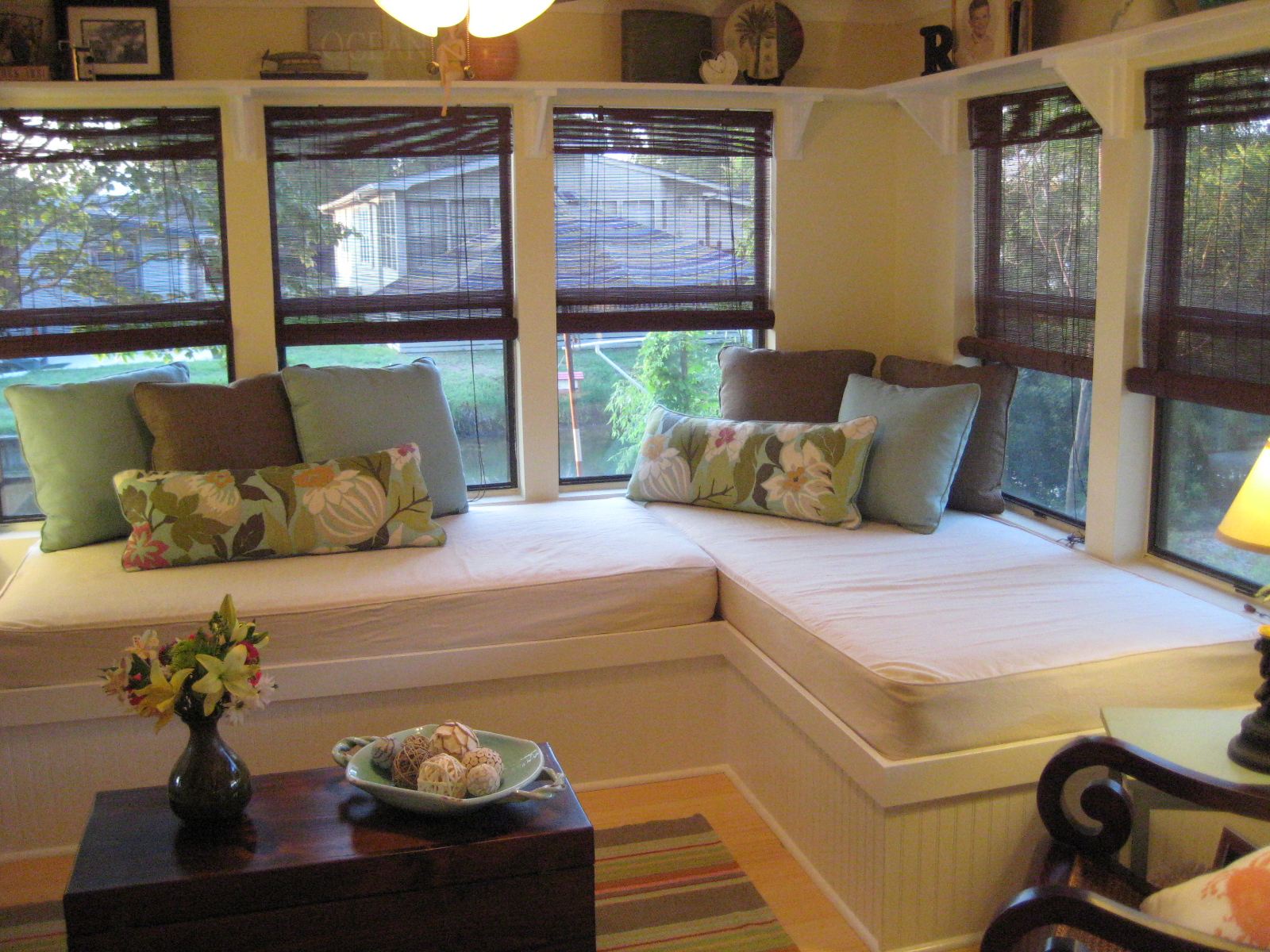 Small Space Solution: Sunroom Corner with Built-In Beds ...