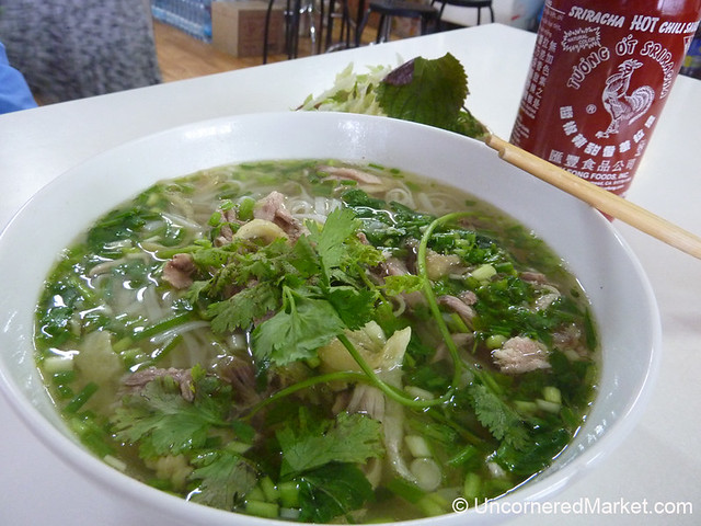 Hearty Bowl of Pho in Prague's Vietnamese Market