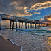 Juno Beach Sunrise at the Pier by Captain Kimo
