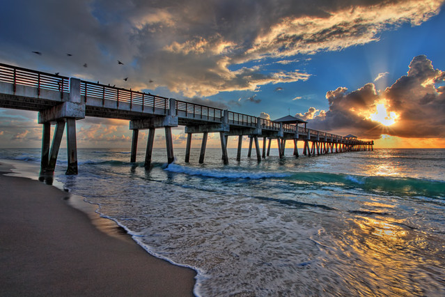 Juno Beach Sunrise at the Pier