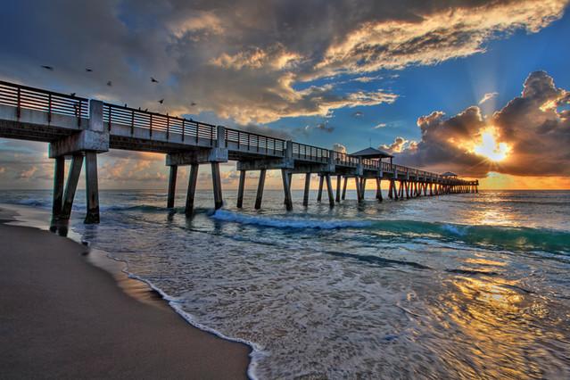 Juno Beach Sunrise at the Pier