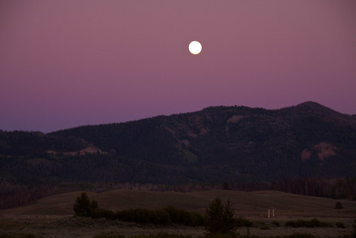 sunset summer moon mountain oregon hp idaho stanley fc 2010 twlight sawtoothcity smileycreek