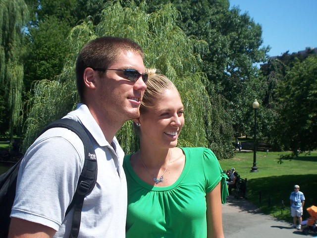 scott and bekah in the public garden